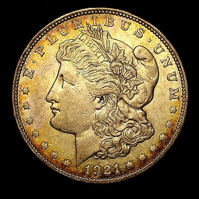 1921 D ~**ABOUT UNCIRCULATED AU**~ Silver Morgan Dollar Rare US Old Coin! #R66