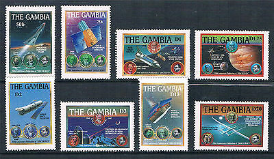 Gambia 1988 Space Achievements SG 834/41 MNH