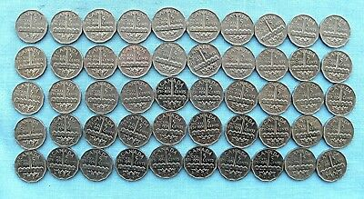 Lot of 50  Canadian Five cents George VI Bicentennial  Nickels