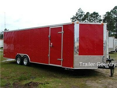 NEW 8.5 x 24 8.5x24 Enclosed Carhauler Cargo Trailer 10K Axles