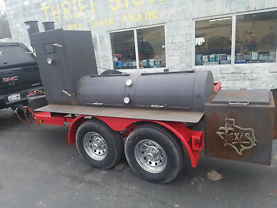 Custom Klose Bar-B-Que Pit Smoker Catering Cookoff Trailer