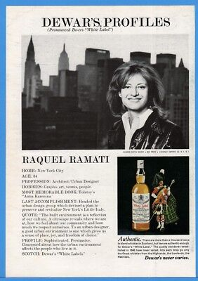 1976 Dewars White Label Whisky Raquel Ramati NY Architect Urban Design Photo Ad