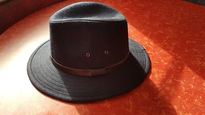 NEW WITH TAGS BARBOUR Navy Blue Bolam Trilby Hat size Large -  31.99 ... 9dfac56b8733