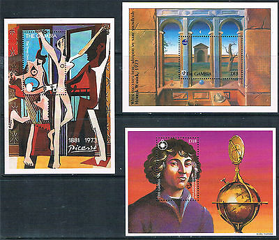 Gambia 1993 Anniversaries & Events 3x MS SG 1691 MNH
