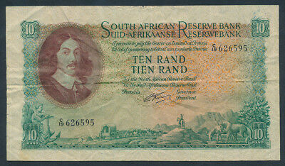 South Africa: 1961 10 Rand Sig. De Kock. Pick 107a Very Fine