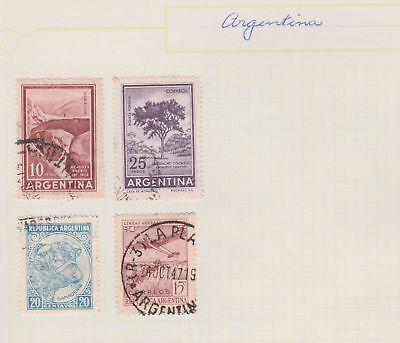 ARGENTINA Tree, Cow, Plane etc on Old Book Pages, per scan, removed to send #