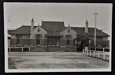 Vintage Postcard, Railway Station Wonthaggi W. Harrison Lee Photographer Publish