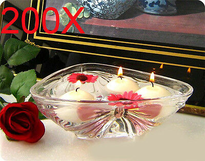 200X Wedding Party Light floating White Water candle Wholesale Lots 200PCS