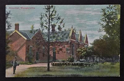 Vintage Early Coloured Postcard Of The  Hospital Wangaratta