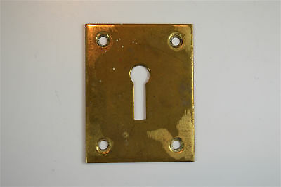 Solid brass vintage square escutcheon plate furniture keyhole box key hole UB2