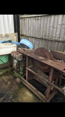 Lister Engine On Saw Bench