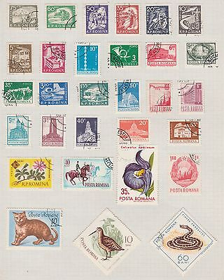 ROMANIA Assorted, etc on Old Book Pages (As Per Scan-pg folded) #
