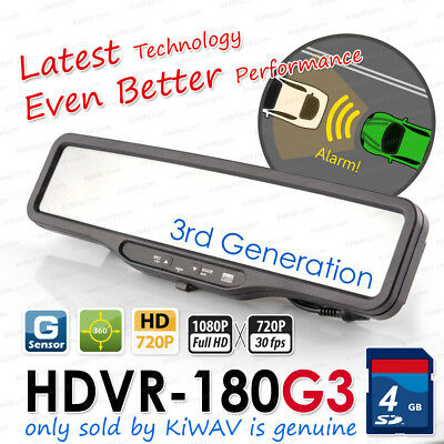 "2.4"" Real Full HD 180G3 vehicle camera video recorder rear view mirror in Canada"