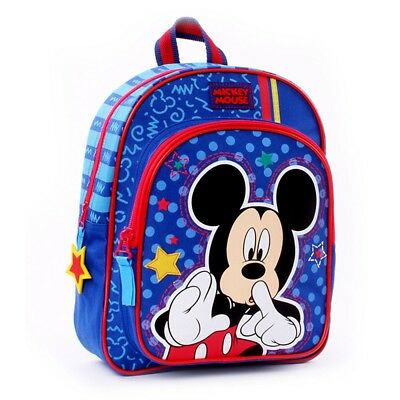 Face Time | Kinder Rucksack blau | 31 x 25 x 12 cm​ | Micky Maus | Mickey Mouse