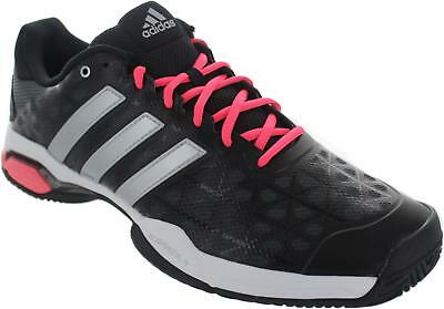 finest selection 522d0 bab17 Adidas Barricade Club Men s Black silver red Lace Up Adituff Sports  Trainers New