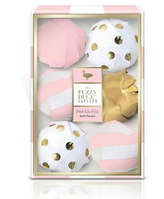 Baylis & Harding Fuzzy Duck Ladies Pink Gin Fizz Collection 6 x Bath Fizzers Set