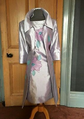 Beautiful Libra Mother Of The Bride/evening Dress And Coat, Size 14
