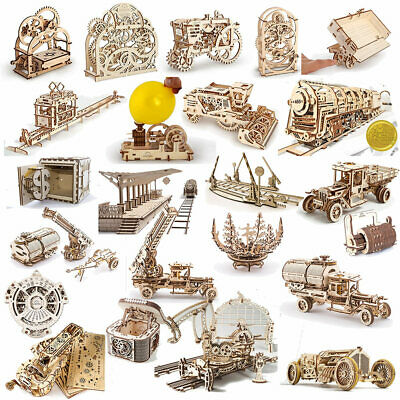 UGEARS Mechanical Wooden Model Kits - Choose from the drop down menu