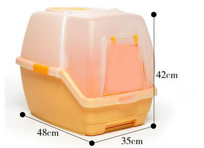 E66 Pet Toiletries Portable Cat Toilet Tray House Litter Box Scoop Carrier Hood