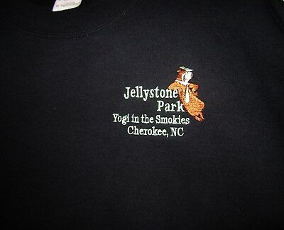 Yogi Bear Jellystone Park Yogi The Smokies Cherokee NC Sweatshirt M measurements