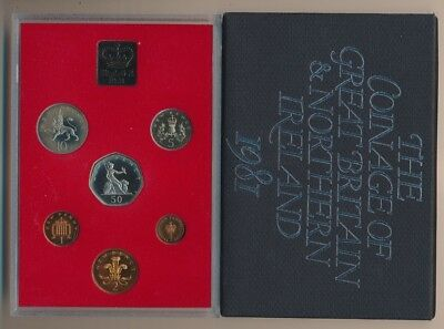 Great Britain: 1980 Proof Set, 1/2p to 50p