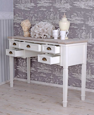 Table Console Country House Style Desk Antique White Wall Console Console Table