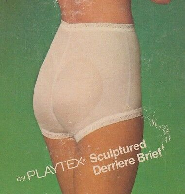 "Vintage Playtex ""Free Spirit"" Fanny Shaper panty girdle / Brief sz 2X White New"
