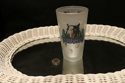 Minnesota Timberwolves Frosted Miller Draft Beer 16 Oz Glass Great Graphics