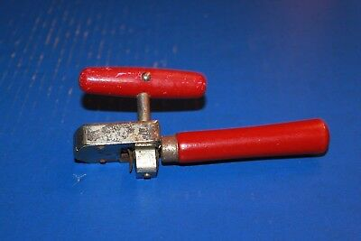 Vintage Edlund Junior No. 5 Can Opener Red Wooden Handles