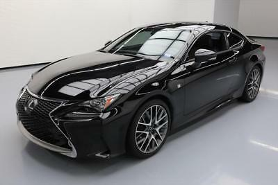2015 Lexus RC  2015 LEXUS RC350 COUPE F SPORT SUNROOF NAV VENT LEATHER #009035 Texas Direct