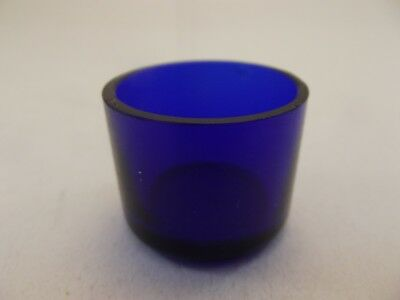 Cobalt Blue Glass Liner (GL18) Replacement Silver Mustard Pot - Vintage Bristol