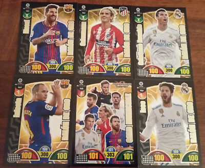 Balon De Oro 2017 2018 Liga Santander Adrenalyn Xl + Card Invencible Gift