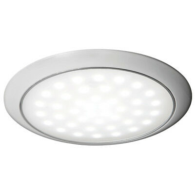 Plafonnier LED ultraplate bague blanche 12/24 V 3W