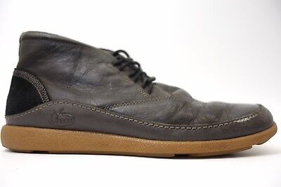 92928467a4b0 Chaco Mens Montrose Chukka Mid Oxford Leather Black Casual Shoes Boots Size  8