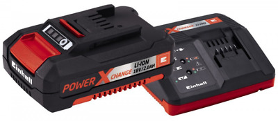 Caricabatteria Rapido Con Batteria Einhell Power-X-Change 18V Litio Kit 2 Ah