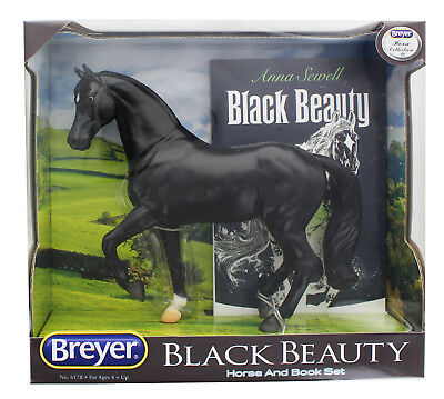 Breyer 1:12 Black Beauty Horse and Book Set