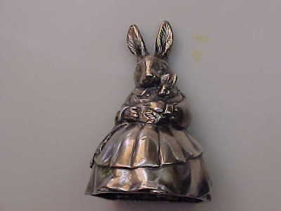 Royal Doulton Silver Plated Bunnykins Rabbit Music Box Dated 1998
