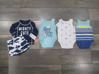 5 piece Lot of Baby Boy Spring/Summer clothes size Newborn NWT
