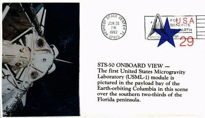 Dr Jim Stamps Us Microgravity Lab Columbia Space Event Cover Sticker Cachet