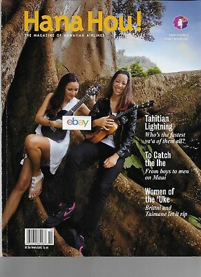 Hawaiian Airlines Hana Hou! Inflight Magazine 10 & 11/2013 Women Of Uke