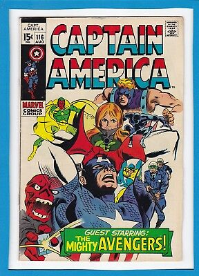 Captain America #116_August 1969_Fine+_Red Skull_The Mighty Avengers_Silver Age!