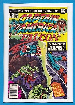 Captain America & The Falcon #202_October 1976_Very Fine_Jack Kirby_Bronze Age!