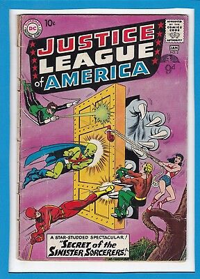"""Justice League Of America #2_Jan 1961_Good+_""""the Sinister Sorcerers""""_Silver Age!"""