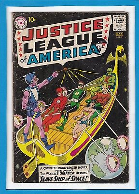 """Justice League Of America #3_March 1961_Very Good Minus_""""slave Ship Of Space""""!"""
