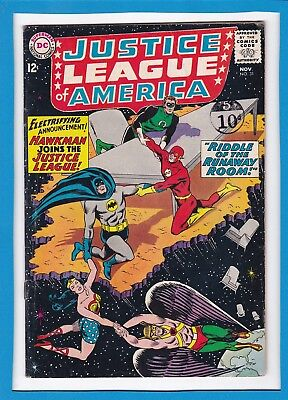 """Justice League Of America #31_Nov 196_Vg_""""hawkman Joins The Justice League""""!"""