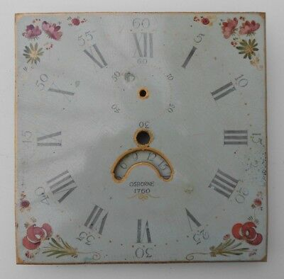 Antique Long Case Grandfather Clock Dial And Movement OSBORNE 1760