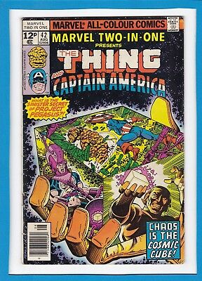 Marvel Two-In-One #42_August 1978_Vg+_The Thing_Captain America_Bronze Age_Uk!