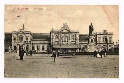 GARE STATION LOUVAIN    TRES ANIMEE     cpa 2054