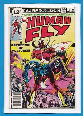 """The Human Fly #18_February 1979_Very Good_""""a Gathering Of Vultures""""_Uk!"""