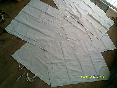 Collection Of Vintage Linen Pillow Covers And Boulder